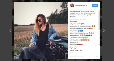 Instagram Profil von Stefanie Giesinger