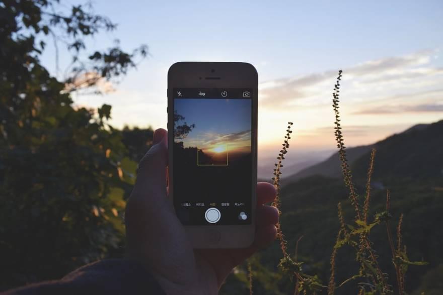Sonnenuntergang filmen mit Smartphonr
